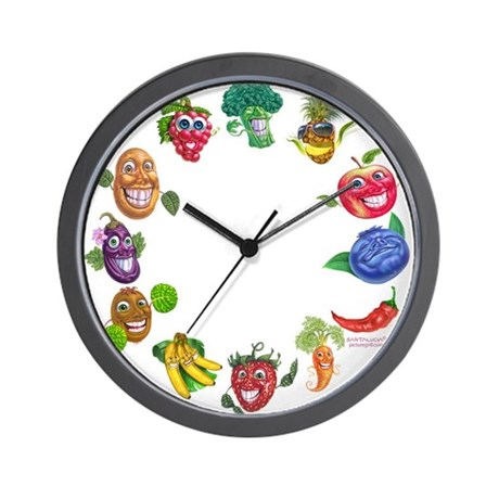 vegetables and fruits Wall Clock
