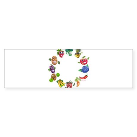 vegetables and fruits Bumper Sticker