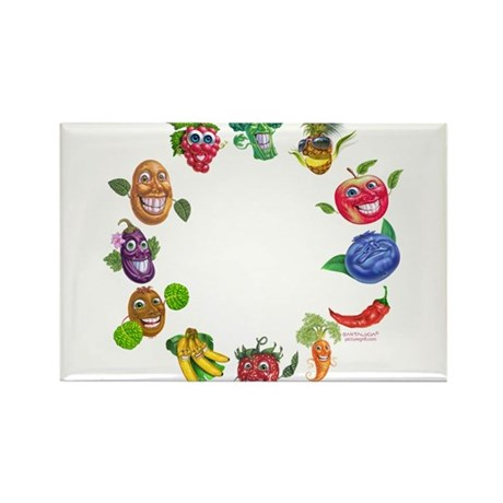 vegetables and fruits Rectangle Magnet