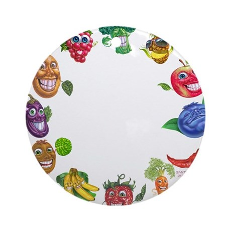vegetables and fruits Ornament (Round)