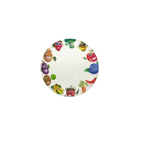 vegetables and fruits Mini Button (10 pack)
