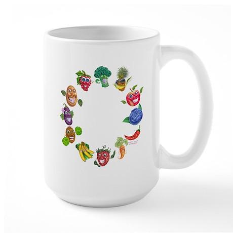 vegetables and fruits Large Mug
