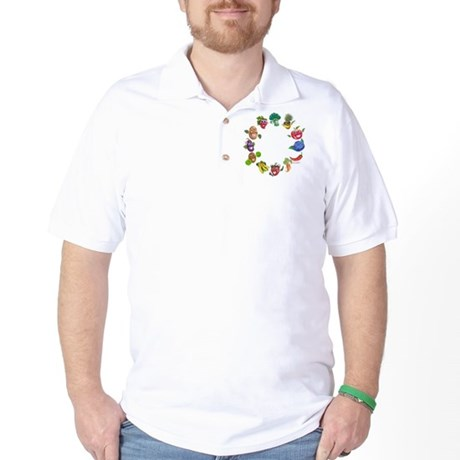 vegetables and fruits Golf Shirt