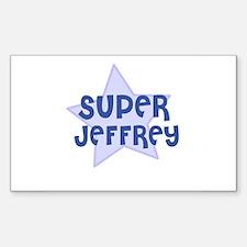 Super Jeffrey Rectangle Decal