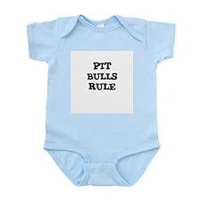 PIT BULLS RULE Infant Creeper