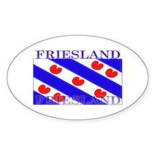 Friesland Frisian Flag Oval Decal