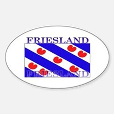 Friesland Frisian Flag Oval Decal