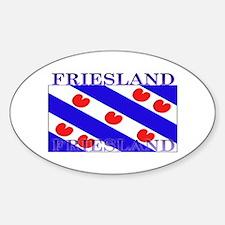 Friesland Frisian Flag Oval Stickers