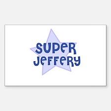 Super Jeffery Rectangle Decal