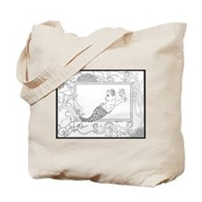 Mercat with seahorse and jell Tote Bag