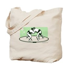Sumo Match (Green) Tote Bag