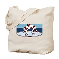Sumo Match (Burgundy Blue) Tote Bag