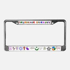Celebrate Diversity License Plate Frame