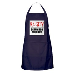 Scrum For Your Life 1 Rugby Apron (dark)