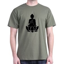 Praying Buddha (Black) T-Shirt