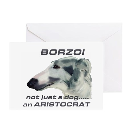 Borzoi Aristocrat Greeting Cards (Pk of 10)
