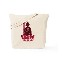 Praying Buddha (Red) Tote Bag