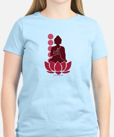 Praying Buddha (Red) T-Shirt