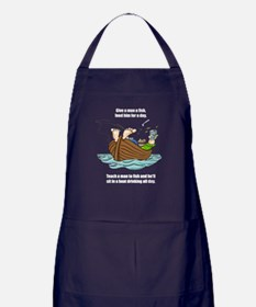 Give A Man A Fish Apron (dark)