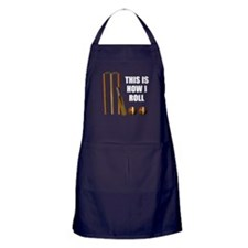 This Is How I Roll Cricket Apron (dark)