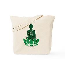 Praying Buddha (Green) Tote Bag