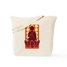 Praying Buddha (Orange) Tote Bag