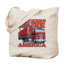 Truckers Drive America Tote Bag
