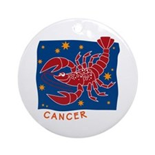 Cancer Ornament (Round)