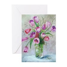 FlowersV Greeting Cards