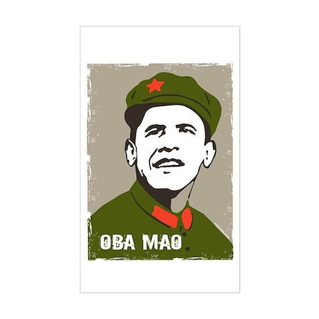 Obama Mao Rectangle Sticker