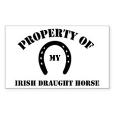My Irish Draught Horse Rectangle Decal