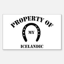 My Icelandic Rectangle Decal