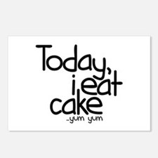 Today I Eat Cake Postcards (Package of 8)