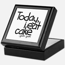 Today I Eat Cake Keepsake Box