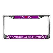 Purple We Love Our American Walking Ponies Frame