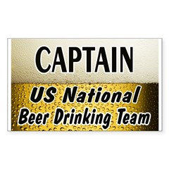 US National Beer Drinking Team Rectangle Sticker