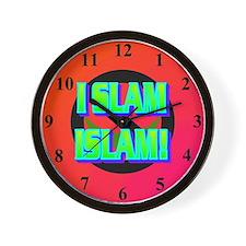 I SLAM ISLAM! Wall Clock