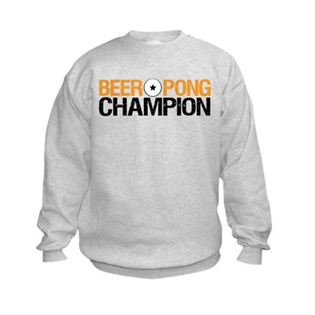 Beer Pong Champion Kids Sweatshirt