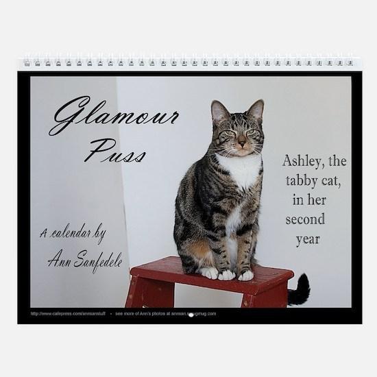 Glamour Puss - Ashley the tabby cat Wall Calendar