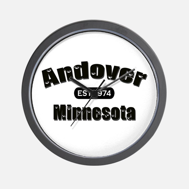 Andover Established 1974 Wall Clock