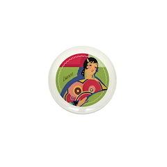 Alluring Gypsy Dancer Mini Button