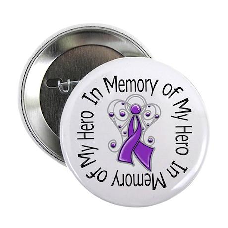 """Purple Ribbon DecoAngel 2.25"""" Button (10 pack)"""