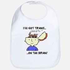 Trains On The Brain Bib