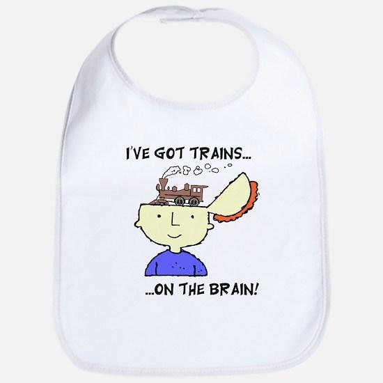 Trains On The Brain Bib