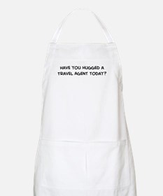 Hugged a Travel Agent BBQ Apron