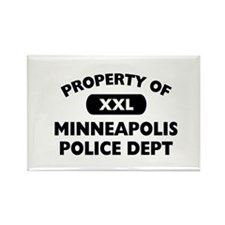 Property of Minneapolis PD Rectangle Magnet