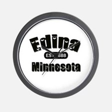 Edina Established 1888 Wall Clock