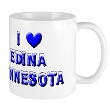 I Love Edina Winter Mug