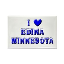 I Love Edina Winter Rectangle Magnet (10 pack)
