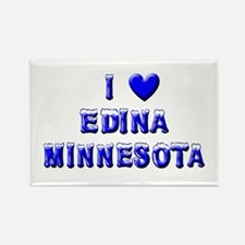I Love Edina Winter Rectangle Magnet (10 pack)